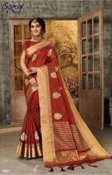 Cotton Chit Pallu Saree