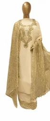 Georgette Suit with Chantilly Lace Dupatta, Dry clean