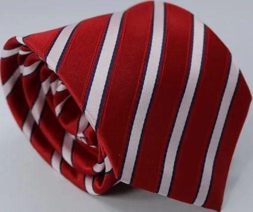 Red Strip Designer Necktie