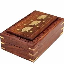 Rectangle Printed Handmade Wooden Jewelry Box, Size/Dimension: 15.2 X 10.2 X 5.1 Centimeters