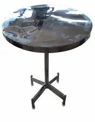 Silver Polished Round Stainless Steel Table, For Restaurants