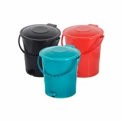 Cylindrical Foot Pedal Plastic Dustbins