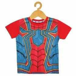 Party Wear Half Sleeves Boys Printed T-Shirts 100% Cotton Made in India