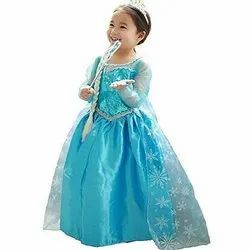 Party Wear Blue Angel Gown For Kids, Size: 2-3 Year