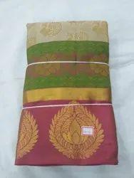Festive Wear Zardozi Work Ethnic Pure Silk Saree, 6.3 m (with blouse piece)