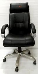 Black Leather Office Chair, Model Name/Number: Fkc 3015 H, Warranty: 1 Year