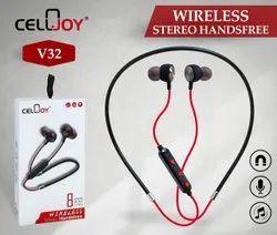 Mobile,Laptop Black V32 Cellojoy Wireless Stereo Earphone, 150 G