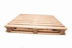 Rectangular Brown Four Way Wooden Pallet, For Packaging, Capacity: 1 Ton