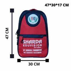 Red Unisex Kids School Bag, For Casual Backpack