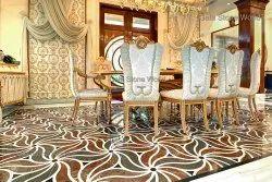 Italian Marble Inlay/ Floral