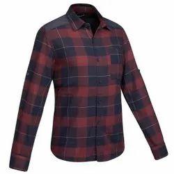 Collar Neck Casual Wear Mens Check Cotton Stylish Shirt