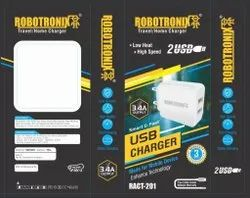 Robotronix White 3.4ARACT-201 Travel Home Charger