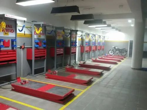 Fully Automatic Two Wheeler Workshop, For Garage Equipment