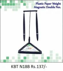 Plastic Paper Weight Magnetic Double Pen