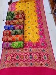 Kutchhi Bandhni Silk Sarees, 6.5 M