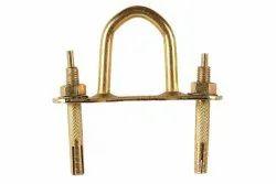 Lexur Brass D Hook For Fan Double, Size: 4 Inch