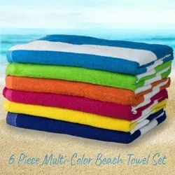 Cotton Striped Swimming Pool Towel, Size: 36 X 72 Inch
