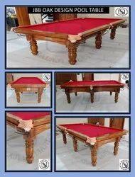 JBB Oak Design Pool Table