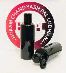 200 ML Hdpe Round Black Shampoo Bottle