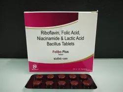 Riboflavin Niacinamide Folic Acid & Lactiic Bacillus Tablets
