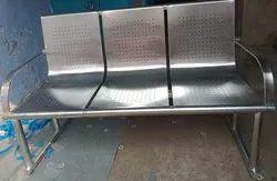 SS Railway Waiting Chair 3 Seater