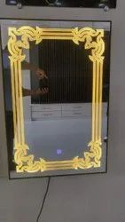 Glass Wall Mounted LED Touch Sensor Mirror