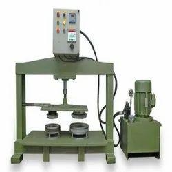 Semi Auto Hydraulic Thali Making Machine