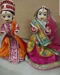 White Indian Traditional Dolls, Chini Mitti Doll