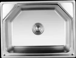 Kindle Stainless Steel Single Bowl Square Sink, For Kitchen Bathroom, Size: 24*18*8