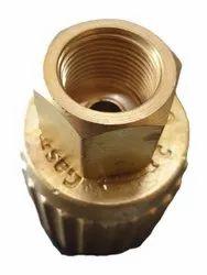 Golden Brass LPG Lot Adaptor