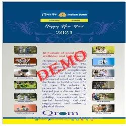 3 Days Art Paper Wall Calendar Printing Services, Dimension / Size: 8.5 Inch X 11 Inch