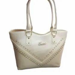 Faux Leather Shoulder Ladies Snow White Hand Bag, 250 Gram, Size: Large