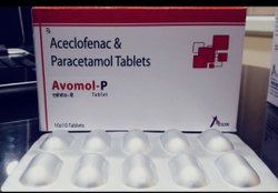 Aceclofenac 100mg+Paracetamol 325mg Tablet, 10*10, Treatment: Pain Reliever