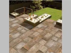 Ceramic Gloss Glazed Vitrified Floor Tiles, Thickness: 10 mm