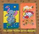 Paras Kids Printed Bath Towels -- No. 2034 Teddy