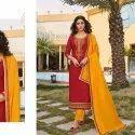 Fashionable Jam Silk Disigner Suit