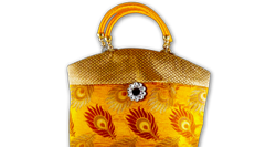 Feather Design Handbag