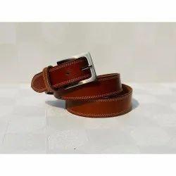 Brown Pin Buckle Men Formal Leather Belt