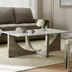 Decorative kart 47 In X 29 In X 19 In Wooden Marble Laminate Top Center Table Designer