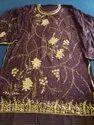 Chinnon Ladies Semi Stitched Handwork Party Wear Suit