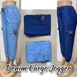 Denim Cargo Jogger