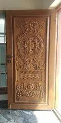 Solid Wooden Designer Doors, For Home