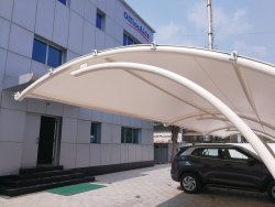 White Car Parking Shed, Thickness: 750 Gsm