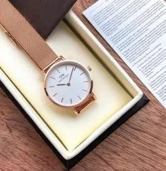 Men Round Dw Watch, For Personal Use