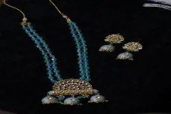 Blue Handpainted Meenakari