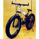 Black And White BMW Fat Tyre Folding Bicycle