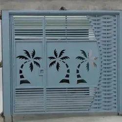 SK Hinged Designer Mild Steel Gate, For Home, Size: 7 X 10 Feet (height)
