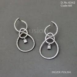 American Diamond Party Wear Earrings