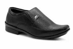 Black Slip On Kids Formal Shoe