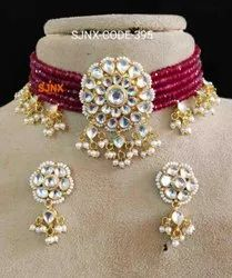 Ruby Wedding Traditional Disigner Necklace Set